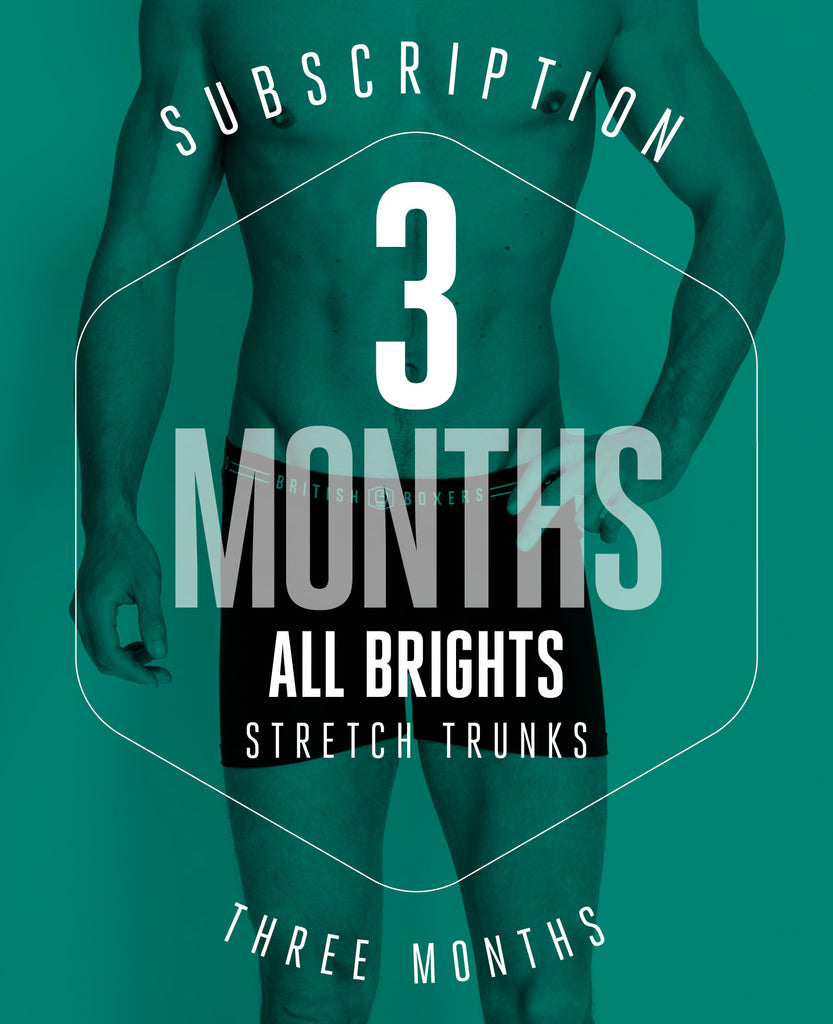 3 Month Subscription! 1 Pair of All Brights Stretch Trunks for 3 months