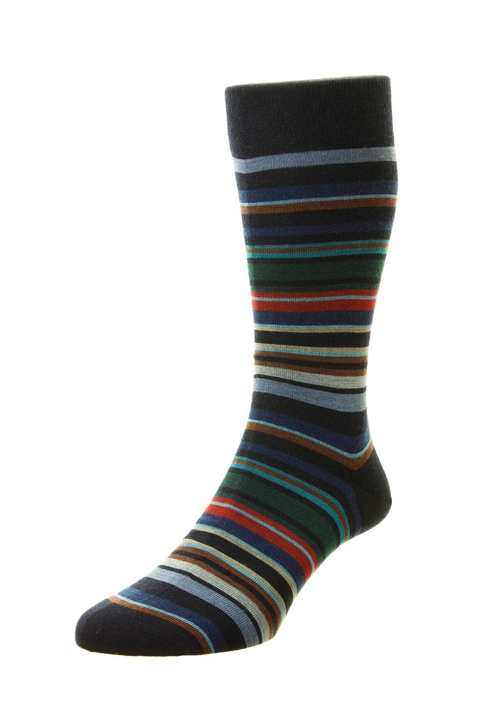 Women's British Boxers Quakers Socks - Merino Wool in Navy