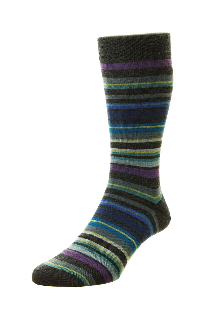Women's British Boxers Quakers Socks - Merino Wool in Charcoal