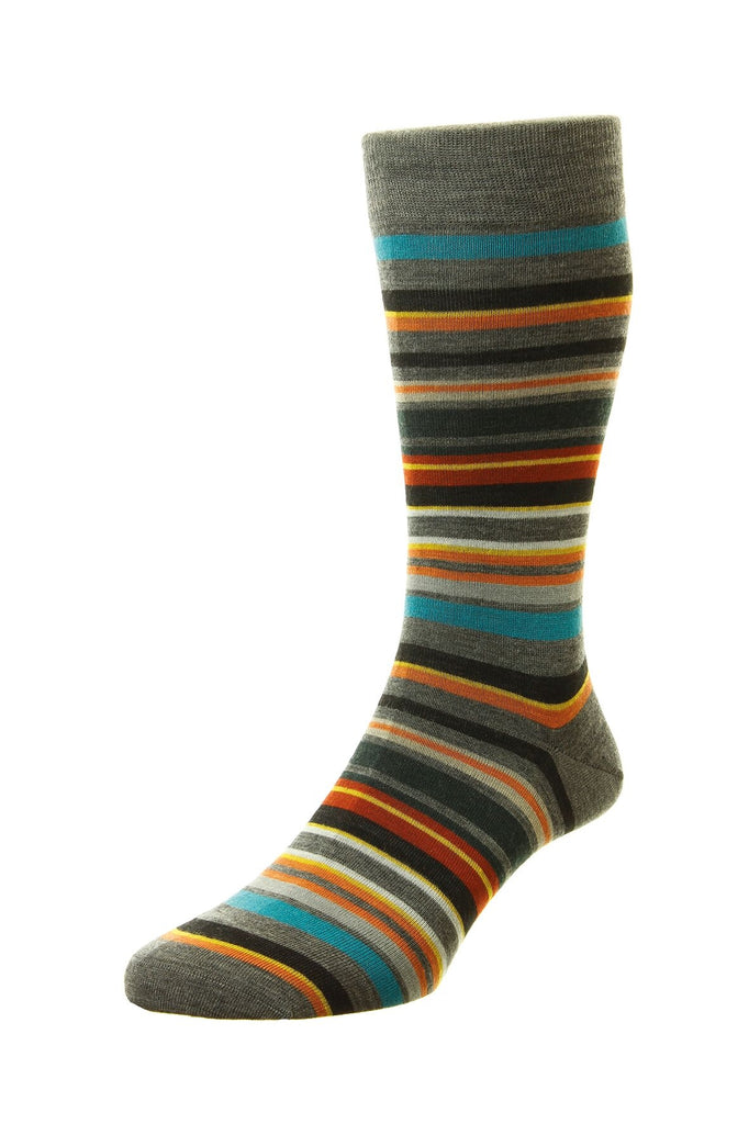 Women's British Boxers Quakers Socks - Merino Wool in Mid Grey