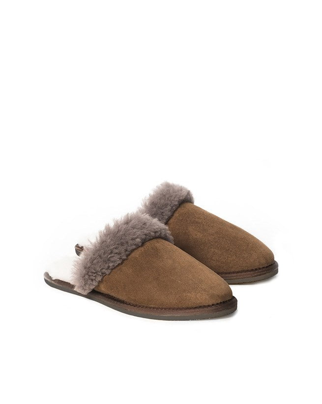 Men's Sheepskin Mule - Khaki