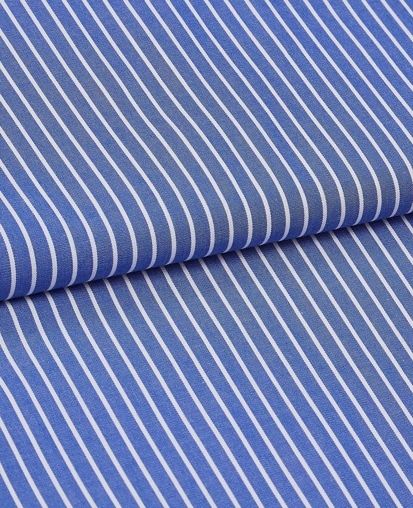 Two Pack British Boxers Blue & White Burford Stripe / White