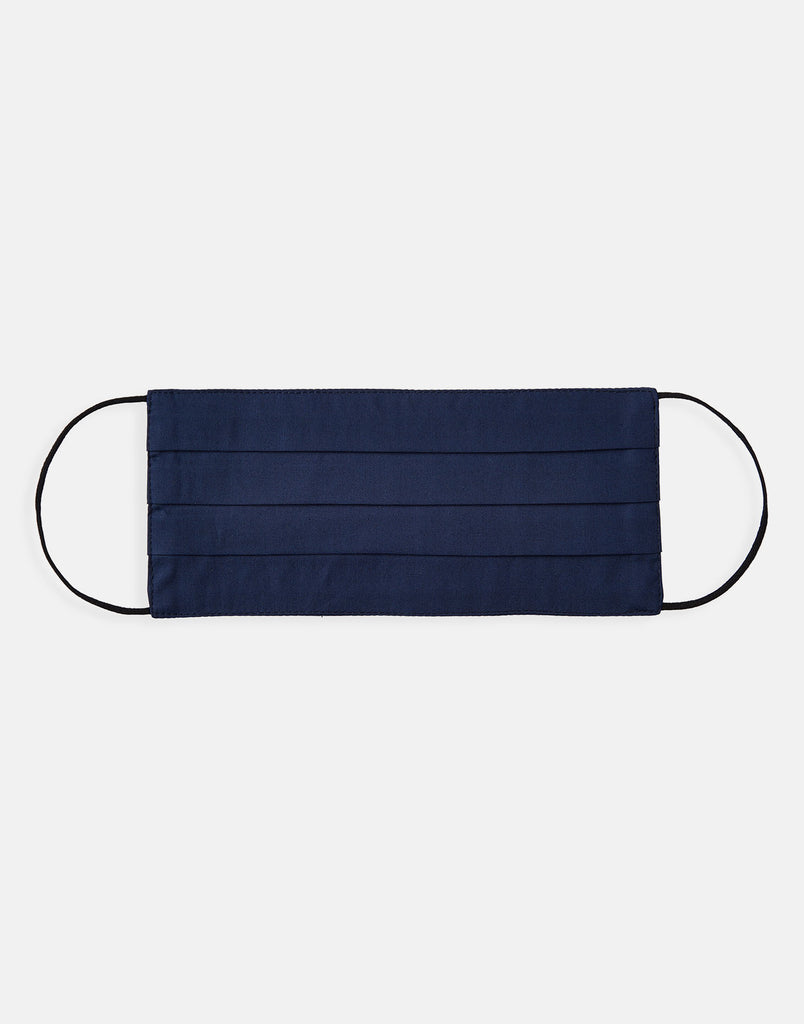 Double Layer Face Mask - Plain Navy