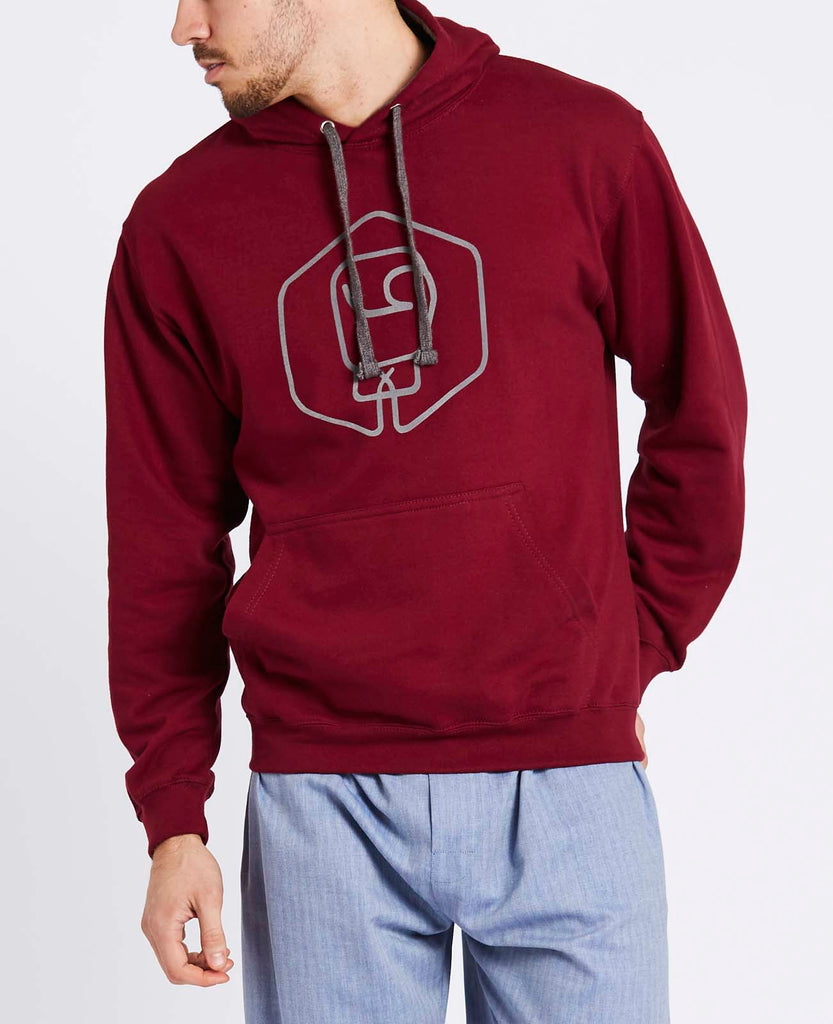 Men's Malbec with Graphite Logo Varsity Hoodie