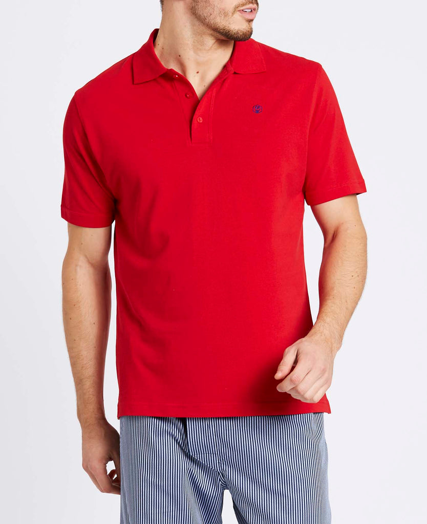 Men's Red Polo
