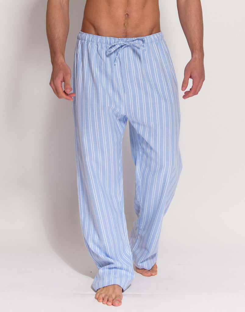 Men's Westwood Blue Stripe Brushed Cotton Pyjama Trousers