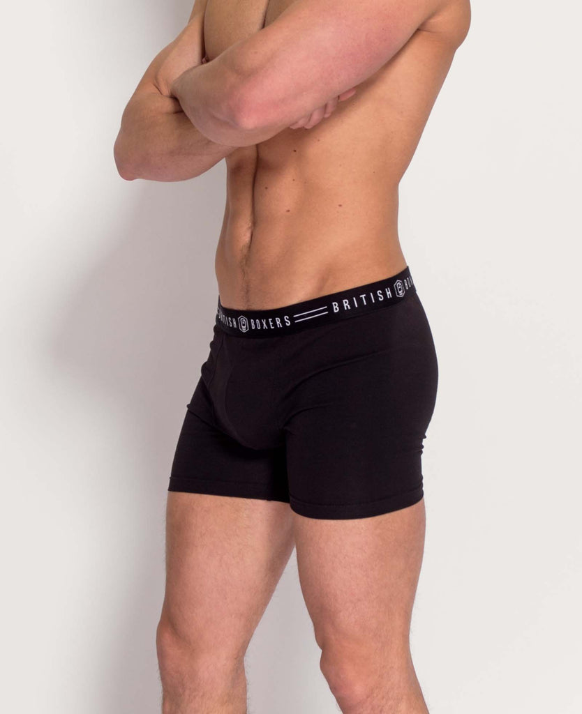 Jab Pack! 2 Pairs of ALL BLACK Stretch Trunks for £25