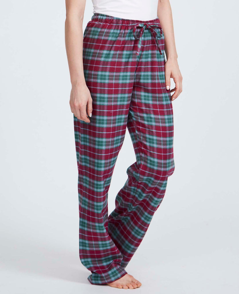 Women's Brunello Check Brushed Cotton Pyjama Trousers