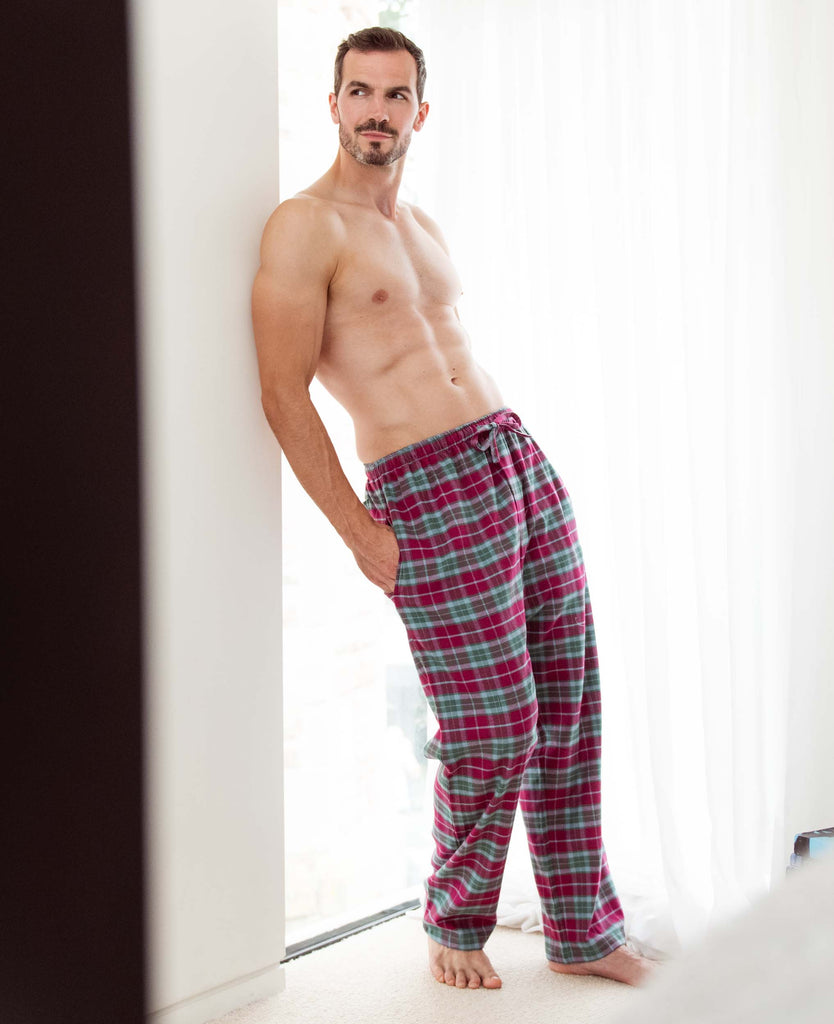 Men's Brunello Check Two-Fold Flannel Pyjama Trousers