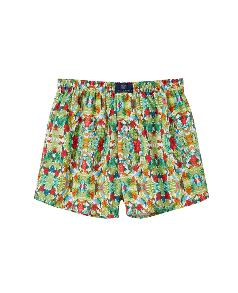 British Boxers Hot Tropic Print