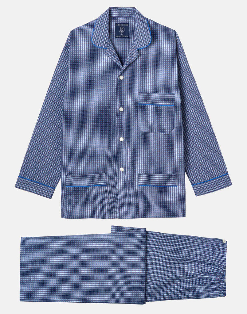 Men's Crisp Cotton Pyjama Set – Cannes