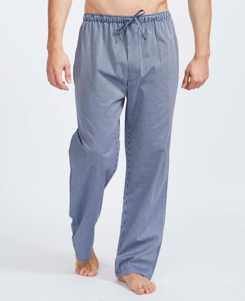 Men's Navy & Silver Minster Stripe Pyjama Trousers