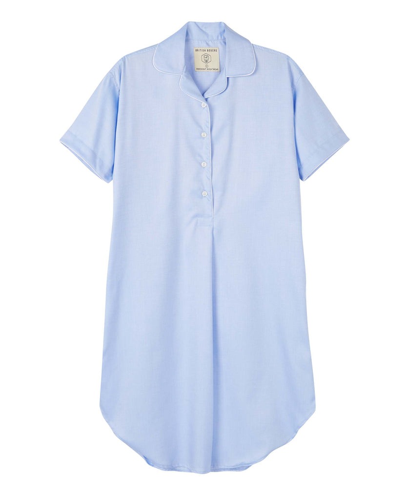 Women's Dresden Blue Short Sleeve Nightshirt