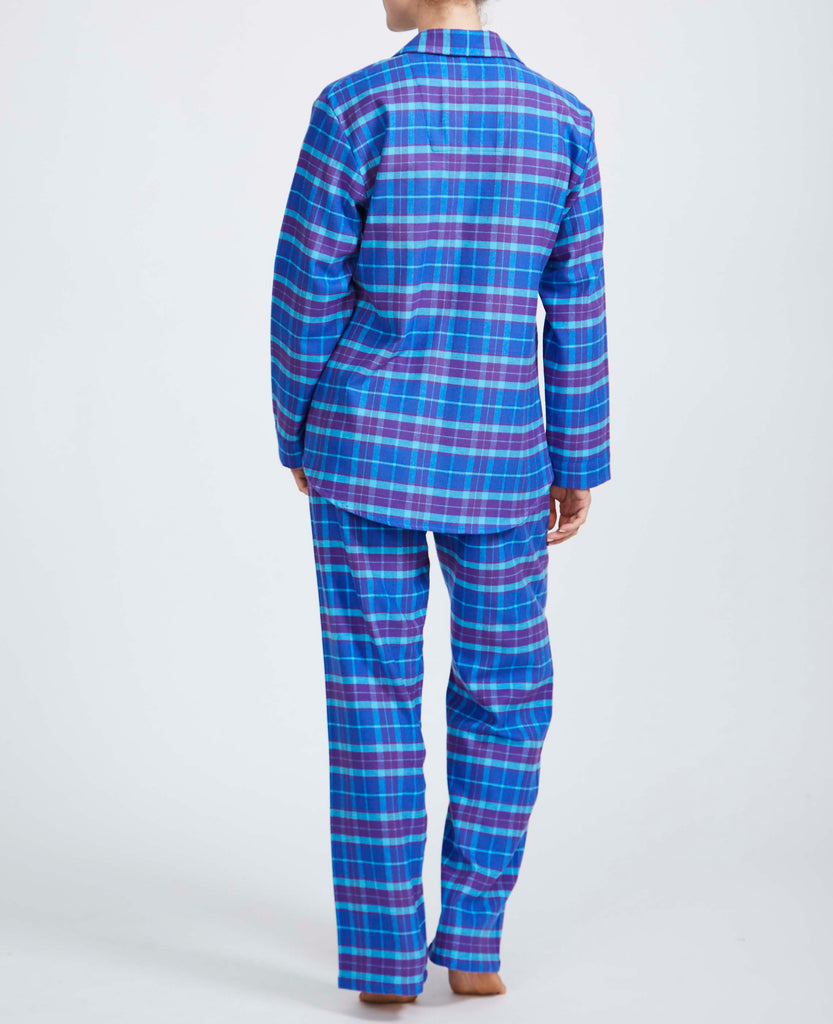 Women's Ultra Violet Check Two-Fold Flannel Pyjama Set