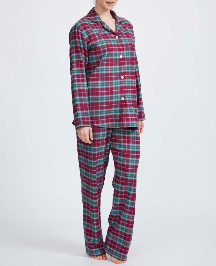 Women's Brunello Check Two-Fold Flannel Pyjama Set