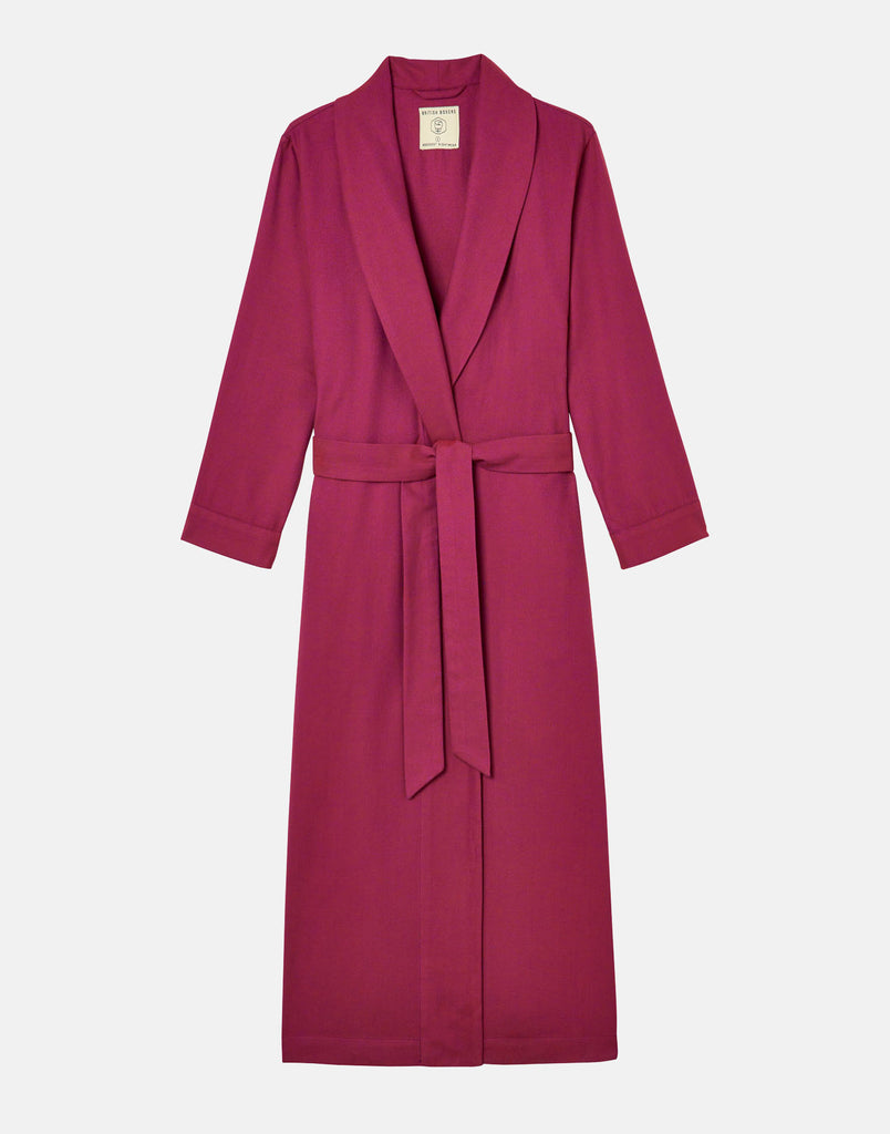 Women's Rioja Herringbone Brushed Cotton Dressing Gown