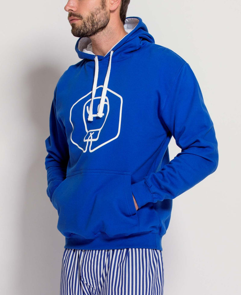 Men's Royal Blue/Arctic White Varsity Hoodie