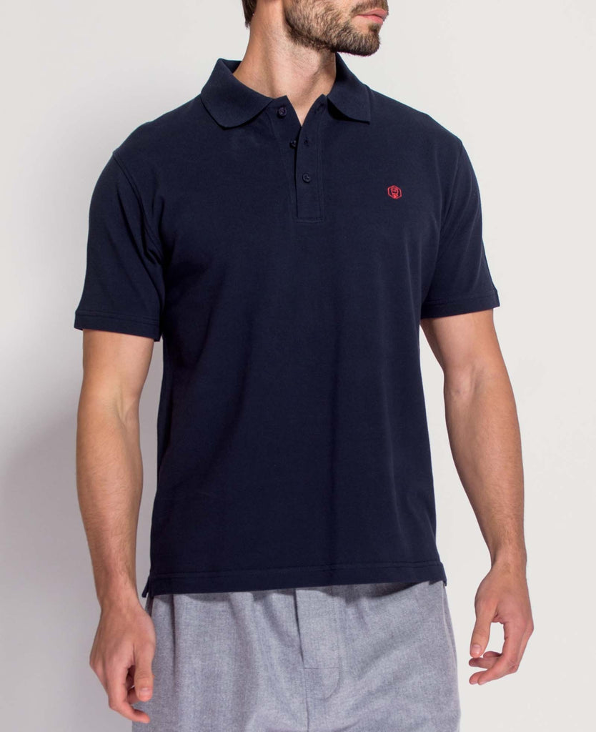 Men's Navy/Red Polo