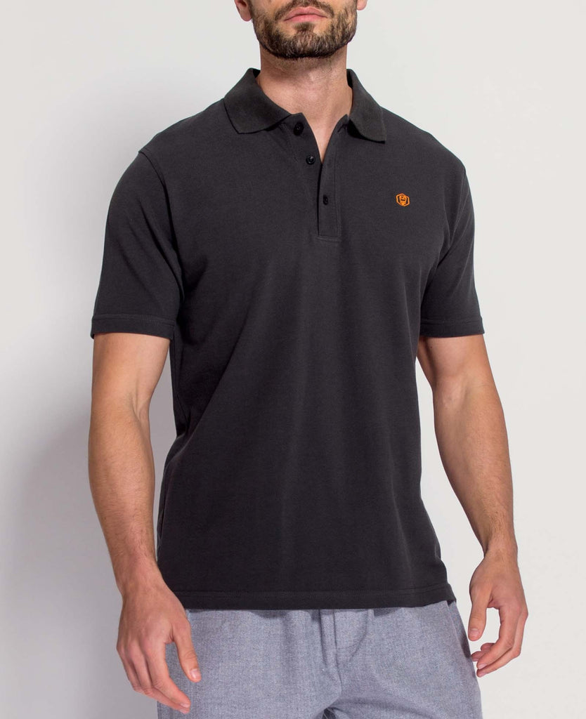 Men's Grey/Orange Polo