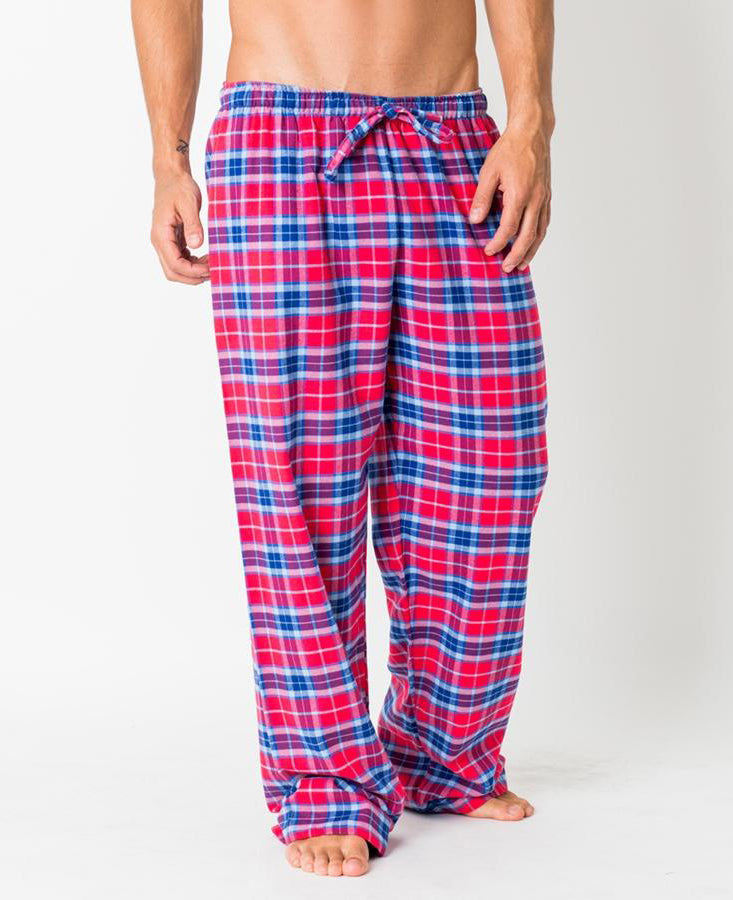 Men's Dunwood Red Tartan Brushed Cotton Pyjama Trousers