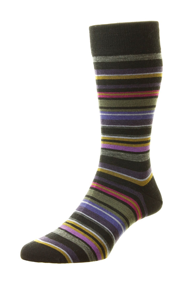 Women's British Boxers Quakers Socks - Merino Wool in Black