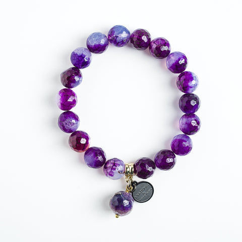 VIOLETS AHĀTS 10 MM  | PURPLE AGATE