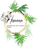 Hosanna Printable, Easter Art Palm Sunday Decor - benedictaveils