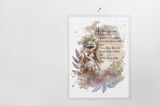 Ave Maria Rosary Prayer Devotional Marian Art Print