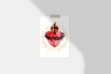 Most Sacred Heart of Jesus Devotional Catholic Art Print