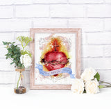 Most Sacred Heart of Jesus Printable Art and Home Decor - benedictaveils