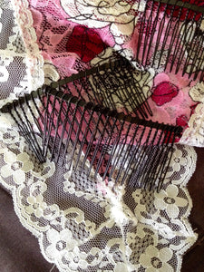 Add One Mantilla Metal Comb + Sewing Service for Catholic Mantilla - benedictaveils