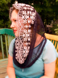 Black Mantilla Veil, Catholic Black Mantilla, Catholic Gifts for Wife by BenedictaVeils - BenedictaVeils