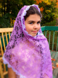 Church Scarf Veil, Purple Lace Catholic Veil, Veil for Church, Latin Mass Veil, Chapel Veil, Veils for Advent Lent, Mantilla Scarf, Mantilla by BenedictaBoutique - benedictaveils