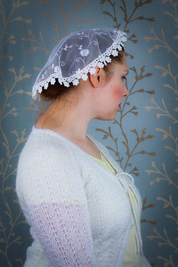 Chapel Cap, Chapel Lace Veil, off-White Doily Veil by BenedictaBoutique - benedictaveils