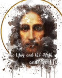 Holy Face of Jesus Devotional Catholic Printable Wall Art - benedictaveils