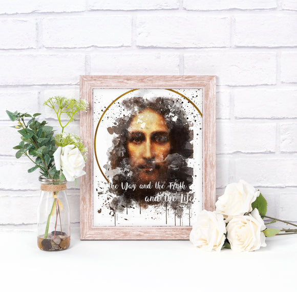 Holy Face of Jesus Catholic Printable Wall Art, Devotional Art by BenedictaBoutique