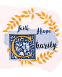 Faith-Hope-Charity Printable Digital Download, Devotional Catholic Wall Art - benedictaveils