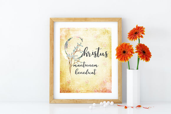 May Christ Bless the House Printable Digital Download - benedictaveils
