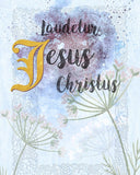 Praised be Jesus Christ Printable Digital Download - benedictaveils