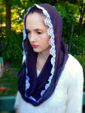 Catholic Infinity Brown Mantilla, Brown Church Veil, Catholic Gifts by BenedictaBoutique - benedictaveils