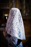 Ivory Lace Chapel Veil for Mass by BenedictaBoutique - benedictaveils