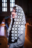 White Crocheted Mantilla Chapel Veil, Catholic Veils for Mass White by BenedictaVeils - BenedictaVeils