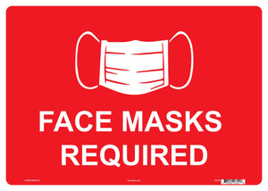 "Lynch HS-40 Face Masks Required Sign 14"" x 10"""