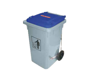 Araven 03405 Waste Bin On Wheels 32 Gal Blue