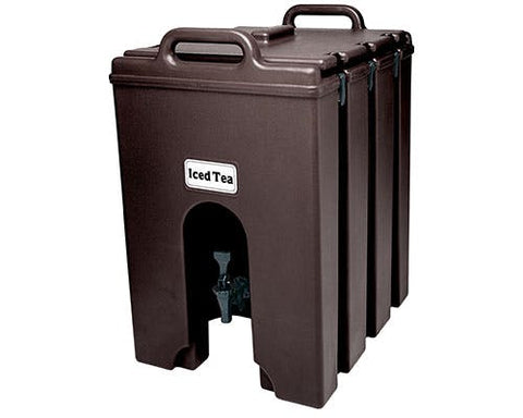 Cambro 1000LCD131 Camtainer Beverage Carrier, 11-3/4 gallon, 16-1/4W x 20-3/4D x 24-3/4H, insulated plastic, dark brown, NSF