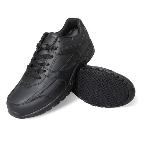 Genuine Grip 1010 Men's Athletic Style Slip Resistant Work Shoes, Black