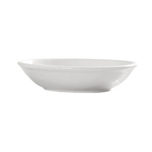 "CAC China 101-44 Lincoln Sauce Dish, 3-3/4"" dia. x 1-1/8""H, round, 15dz Per Case"
