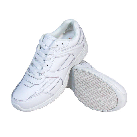 Genuine Grip 1015 Men's Athletic Style Slip Resistant Work Shoes, White