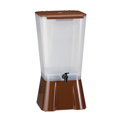 "TableCraft Products 1054 Beverage Dispenser, 5 gallon, single, 10-7/8"" x 12-1/2"" x 22-1/4""H, Made in USA, brown, NSF"