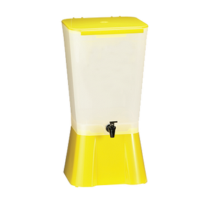 TableCraft Products 1055 Single Beverage Dispenser - 5 Gallon, Yellow, NSF